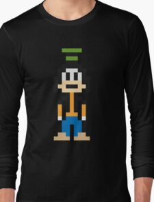 Goofy 8-Bit Long Sleeve T-Shirt