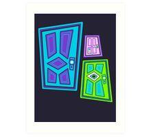 PICK A DOOR! Art Print