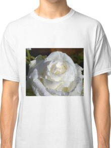 Close up of white rose 14 Classic T-Shirt