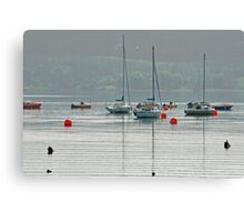 Boats On Carsington Water Canvas Print