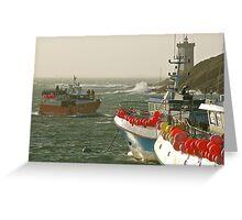 Le Conquet - Retour de pêche Greeting Card