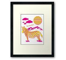 Funky Safari Framed Print