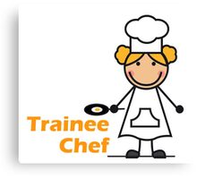 Trainee Chef Canvas Print