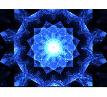 Sapphire Grid Photographic Print