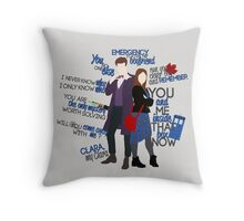 Eleven and Clara Throw Pillow