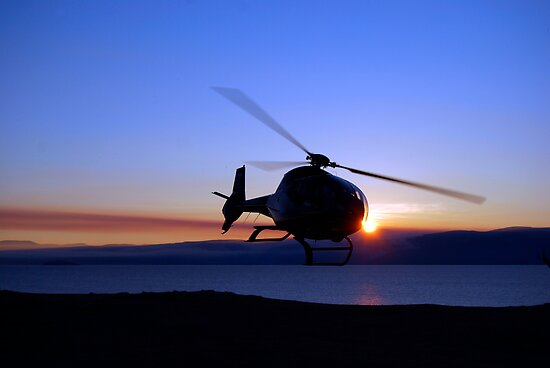 Helicopter over Lake Baikal by Joseph Tame