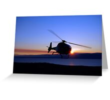 Helicopter over Lake Baikal Greeting Card