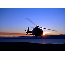 Helicopter over Lake Baikal Photographic Print