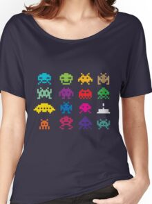 Space Invaders 8-Bit Women's Relaxed Fit T-Shirt