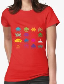 Space Invaders 8-Bit Womens Fitted T-Shirt