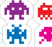 Space Invaders 8-Bit Sticker