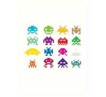 Space Invaders 8-Bit Art Print