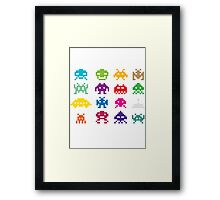 Space Invaders 8-Bit Framed Print