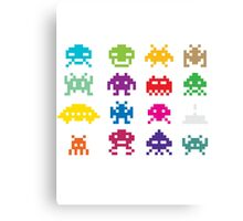Space Invaders 8-Bit Canvas Print