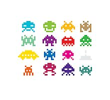 Space Invaders 8-Bit Photographic Print