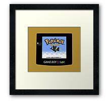 Retro Gold Framed Print