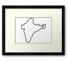 India Indian map Framed Print