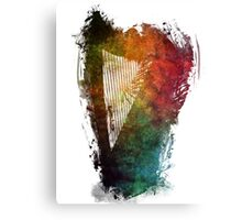 Harp colored instrumental music Canvas Print
