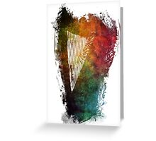 Harp colored instrumental music Greeting Card