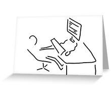information scientist nerd computer Greeting Card