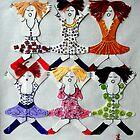lets hear it for the girls ( original art work) by linsads