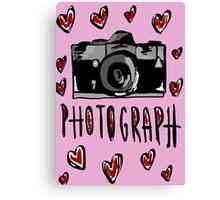 I love photograph Canvas Print