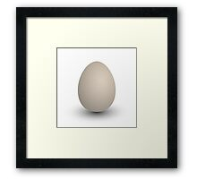 the perfect egg Framed Print