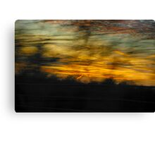 Movin' and Groovin' to the Sun Settin' Canvas Print