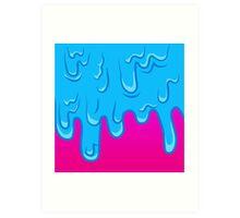NEON DRIP Art Print