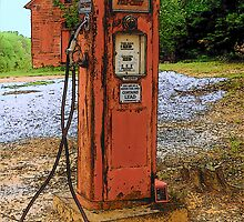 Lonely Gas Pump by Rodney Williams
