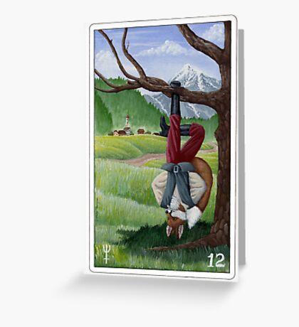 "Tarot - ""The Hanged Fox"" Greeting Card"