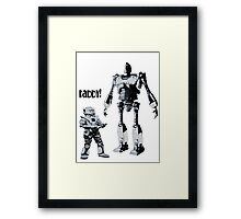 Robot Daddy Framed Print