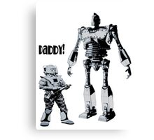 Robot Daddy Canvas Print