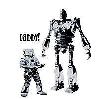 Robot Daddy Photographic Print