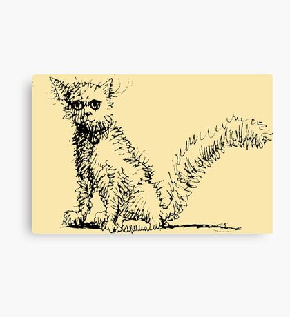 Cute Kitty Pen and Ink Canvas Print