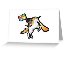 Ninja Cat Unicorn Full Flag Greeting Card