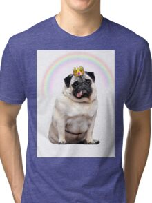Princess Pug  Tri-blend T-Shirt