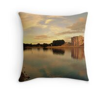 Carew Castle and Bridge Throw Pillow