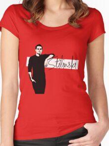 Team Human: Stilinski Women's Fitted Scoop T-Shirt