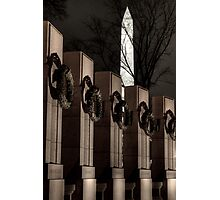 Monuments at Night Photographic Print