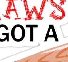 Claws & Bat (black) Sticker