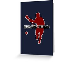 Beacon Hills High - Lacrosse Greeting Card