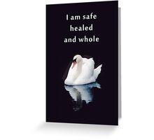 healing greetings card Greeting Card