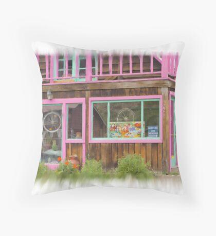 Hippies use back door Throw Pillow