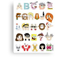 Child of the 00s Alphabet Canvas Print