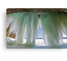 Ice Curtains on Grand Island near Munising Michigan Canvas Print