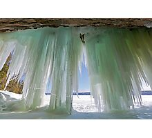 Ice Curtains on Grand Island near Munising Michigan Photographic Print