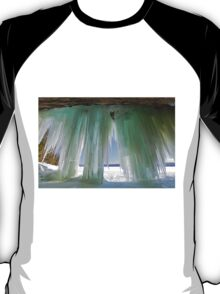 Ice Curtains on Grand Island near Munising Michigan T-Shirt