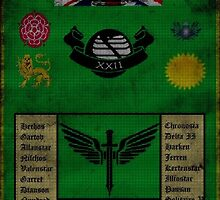 Spartan Air Regiment 22nd Company Banner - United Kingdom Space Command by ammixusdesign