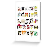 Child of the 60s Alphabet Greeting Card